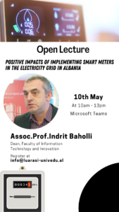 Open Lecture: Positive Impacts of implementing smart meters in the electricity grid in Albania