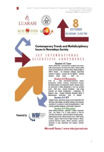 1st International Scientific Conference in Contemporary Trends and Multidisciplinary Issues in Nowadays Society